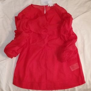 Georgette Red Blouse